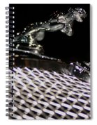 Cat Over The Grille Spiral Notebook