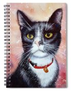 Cat Painting Cat Portrait Watercolor Cat Cat Art Cat Lover Gift Animal Portrait Watercolor Original Spiral Notebook