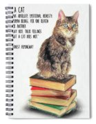 Cat Quote By Ernest Hemingway Spiral Notebook