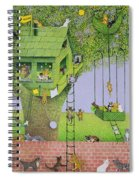 Cat Tree House Spiral Notebook