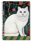 Cat Under The Christmas Tree Spiral Notebook