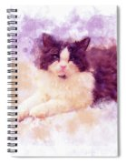 Cat Watercolor Spiral Notebook