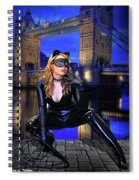 Cat Woman In London Spiral Notebook