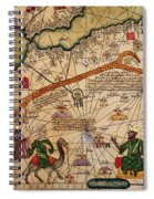 Catalan Map Of Europe And North Africa Charles V Of France In 1381  Spiral Notebook