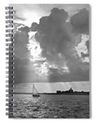 Catboat In Barnstable Harbor Spiral Notebook