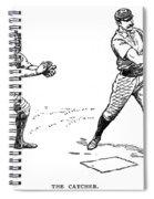 Catcher & Batter, 1889 Spiral Notebook