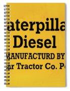 Caterpillar D2 Bulldozer 08 Spiral Notebook