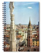 Cathedral And Campanile Milan Italy Spiral Notebook