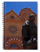 Cathedral Basilica In Santa Fe Spiral Notebook