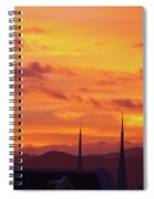 Cathedral Church Sunset Spiral Notebook