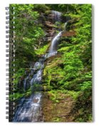 Cathedral Falls 2 - Paint Spiral Notebook