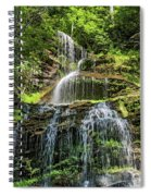 Cathedral Falls 4 - Paint Spiral Notebook
