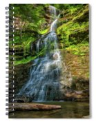 Cathedral Falls - Paint Spiral Notebook