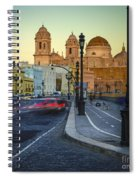 Cathedral From Campo Del Sur Cadiz Spain Spiral Notebook