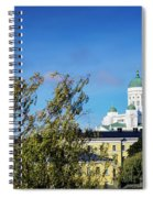 Cathedral Landmark And Central Helsinki View In Finland Spiral Notebook