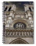 Cathedral Notre Dame Of Paris. France   Spiral Notebook