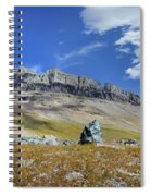 Cathedral Peak Over Waterton Valley Trail - Glacier National Park Spiral Notebook