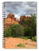 Cathedral Rock With Clouds Spiral Notebook