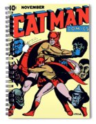 Catman And Kitten Square Format Spiral Notebook