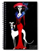 Catrina With Greyhound Spiral Notebook