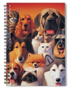 Cats And Dogs  Spiral Notebook
