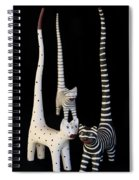 Cats At Night Spiral Notebook
