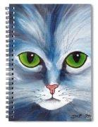 Cat Eyes Blue Spiral Notebook