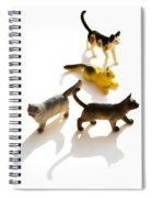 Cats Figurines Spiral Notebook