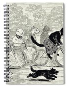 Cats In A Bicycle Race, Hyde Park, 1896 Spiral Notebook