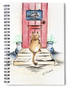 Cat's Welcome Motel Spiral Notebook