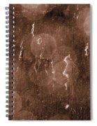 Cattails In Snowstorm 8 Spiral Notebook