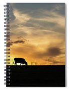 Cattle Sunset Silhouette Spiral Notebook