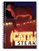 Cattlemen's Neon Stock Yards Spiral Notebook