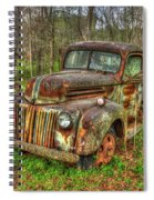 Caught Behind 1947 Ford Stakebed Pickup Truck Art Spiral Notebook