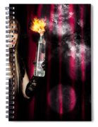 Caught In The Act Of Setting The Stage On Fire Spiral Notebook