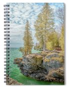 Cave Point Bluffs 2 Spiral Notebook