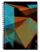 Cave Polygon Pattern Spiral Notebook