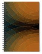 Cave Semi Circle Background Horizontal Spiral Notebook
