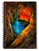 Cavernous Pool In Ambiance Spiral Notebook