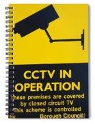 Cctv Warning Sign Spiral Notebook