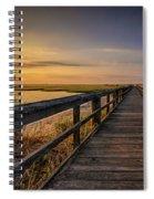 Cedar Beach Pier, Long Island New York Spiral Notebook