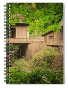 Cedar Creek Mill And Covered Bridge Spiral Notebook