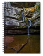 Cedar Falls In Hocking Hills State Park Spiral Notebook