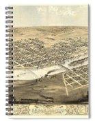 Cedar Rapids Iowa 1868 Spiral Notebook