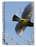 Cedar Waxwing In Flight Spiral Notebook