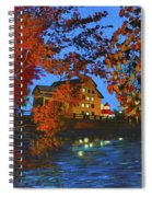 Cedarburg Mill At Night Spiral Notebook