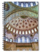 Ceiling Of Blue Mosque Spiral Notebook