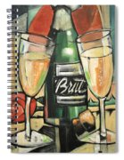 Celebrate With Bubbly Spiral Notebook