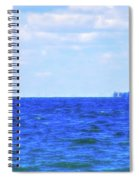 Celestial Skies Sailing The Blue Spiral Notebook
