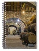 Cellar With Wine Barrels Spiral Notebook